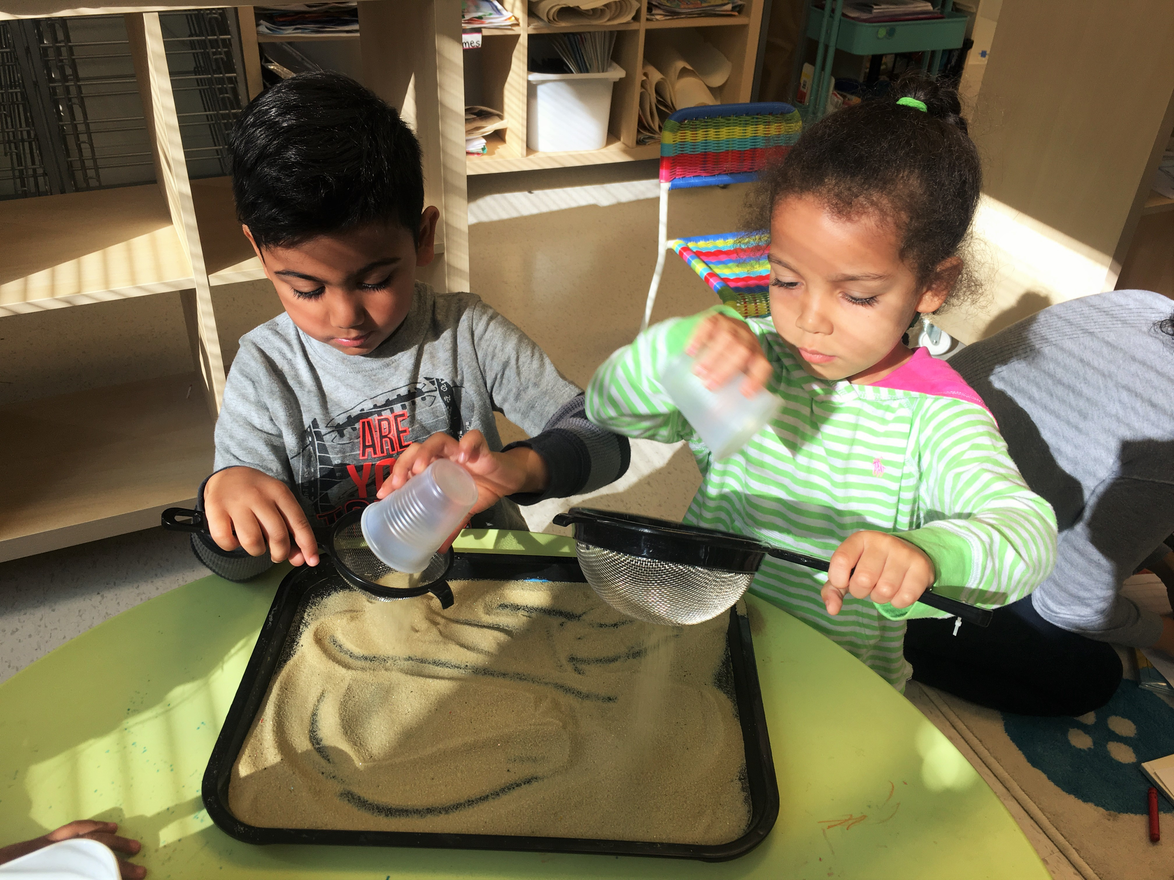Two Children Playing at Center Stage Preschool in Ashburn VA